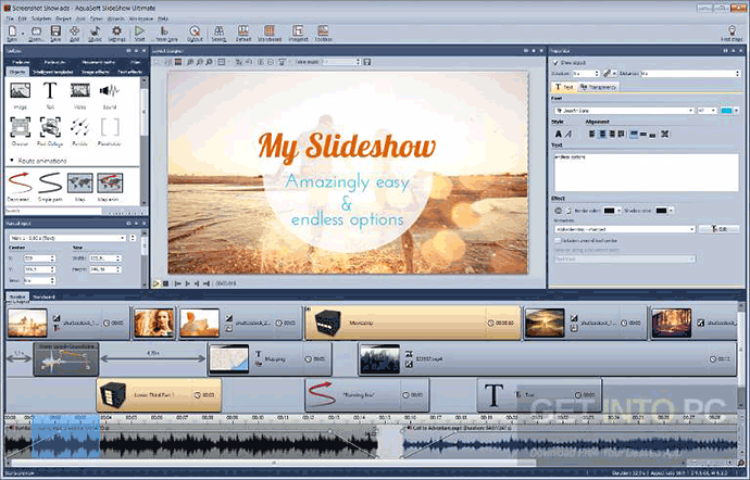 Make your own slideshow with Aquasoft