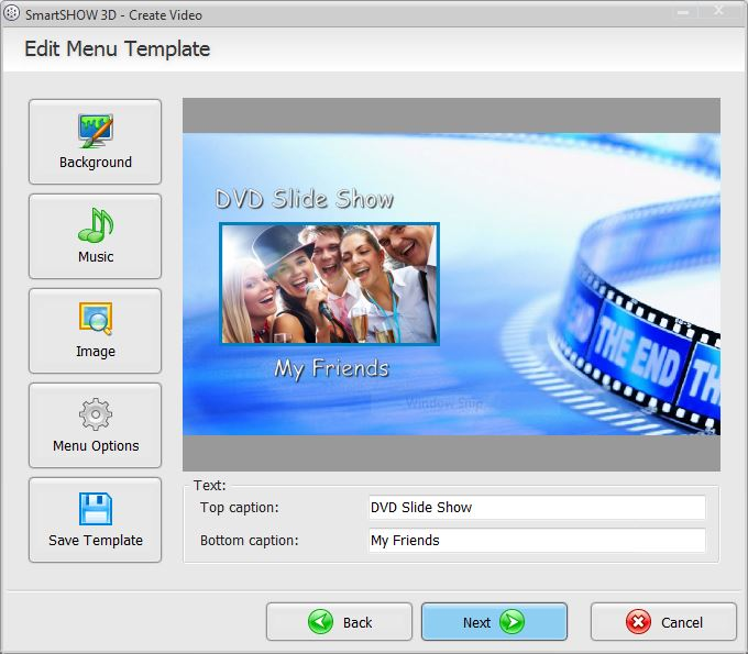 Customize the DVD menu