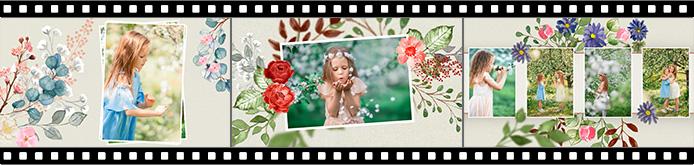 Modèles de diaporama La valse des fleurs