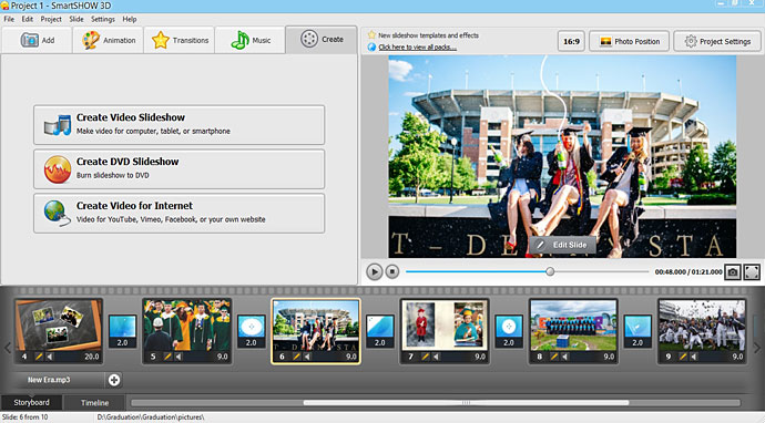 Create graduation video