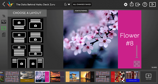 Haiku Deck is for professional-looking presentations