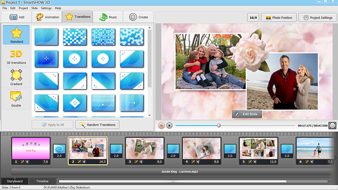Mother's Day slideshow theme