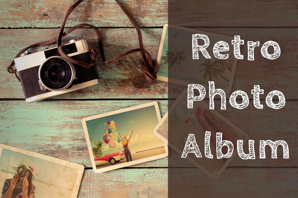 Retro photo album