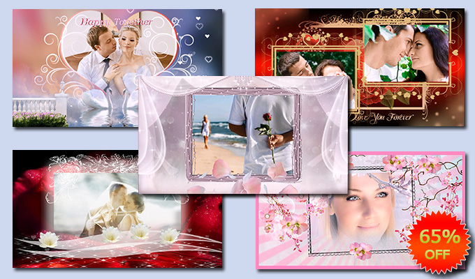 Romantic collection of slideshow templates