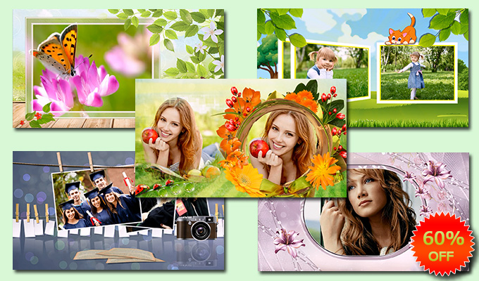 Summer collection of slideshow templates