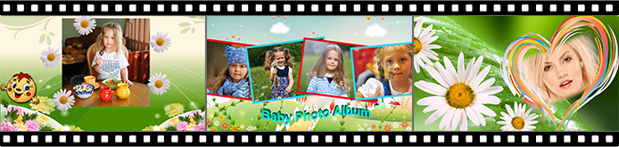 Animated collage slideshow templates