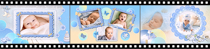 Baby boy slideshow templates