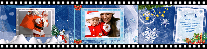 Happy New Year slideshow templates