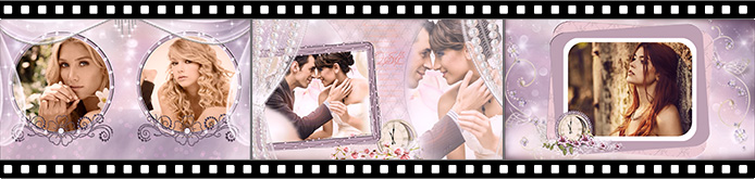 Romantic slideshow templates