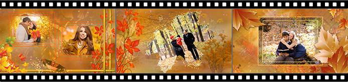 Autumn slideshow templates