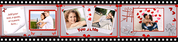 Slideshow templates for Valentine's Day