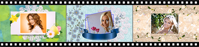 Slideshow animation effects for video greeting cards