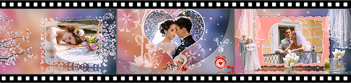 Wedding reception slideshow templates