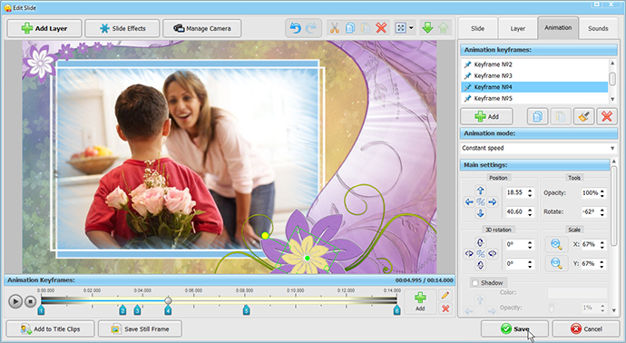 Video greeting card for any celebration smartshow 3d add photos to presentation m4hsunfo