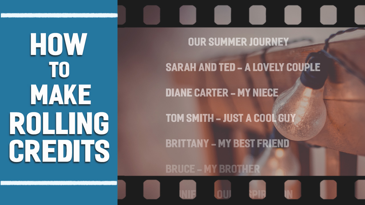 How to make rolling credits in a slideshow