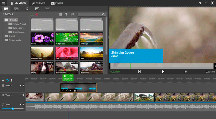 WeVideo is a video editor based on a cloud storing system