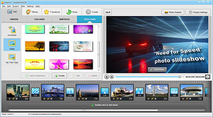 photo slideshow software with 3d effects | smartshow 3d, Presentation templates