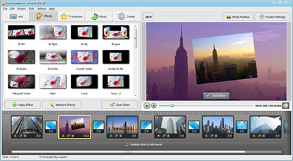 SmartSHOW 3D interface